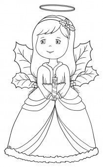 Top 10 free printable cheerful angel coloring pages online for Angel coloring pages print out