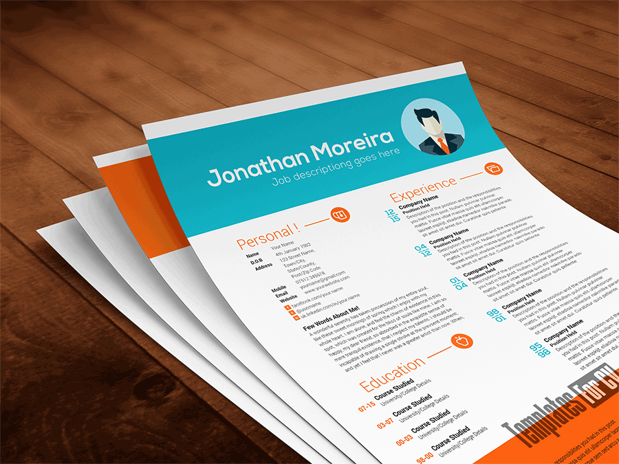 Free Cv Template And Sample Download At TemplatesforcvCom