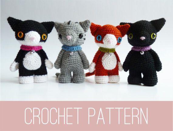 Amigurumi PATTERN crochet your own cat doll PDF, cat toy pattern ...