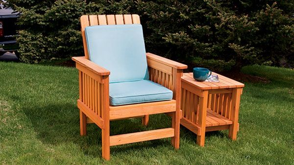 Build An Mission Style Outdoor Easy Chair