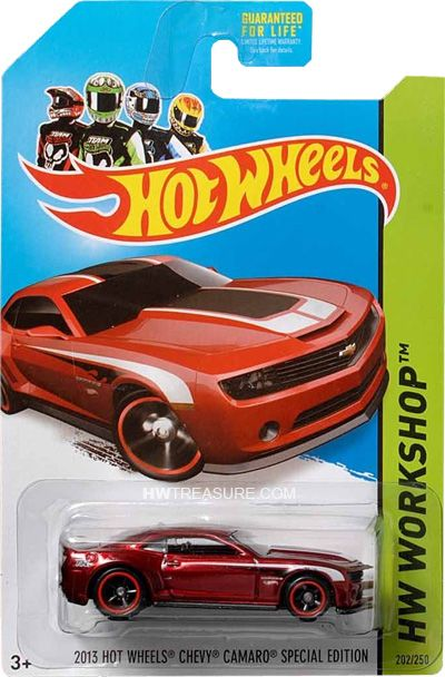 2013 Hot Wheels Chevy Camaro Special Edition Abrela Cuando Ideas