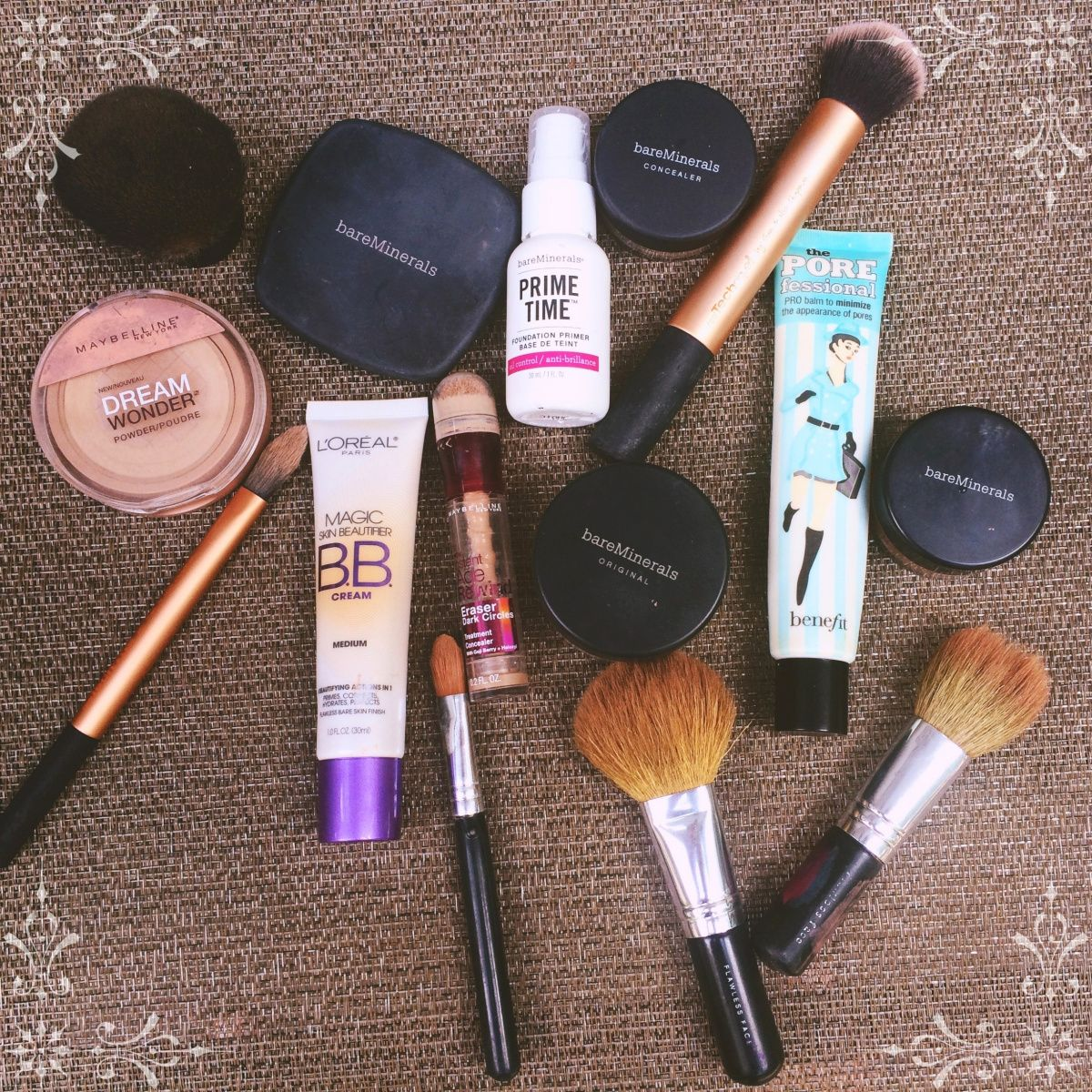 Everyday foundation routine featuring Bare Minerals GET
