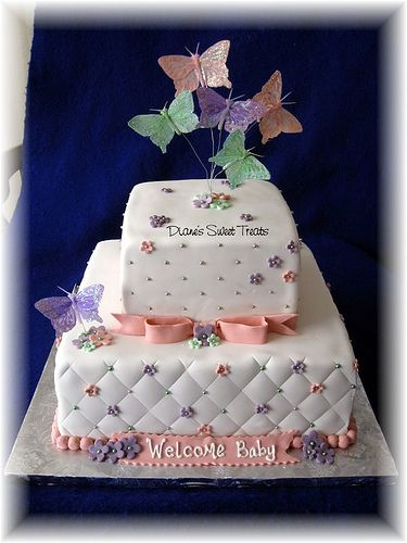 Butterfly Baby Shower Cakes | Butterfly Baby Shower Cakes For Girls