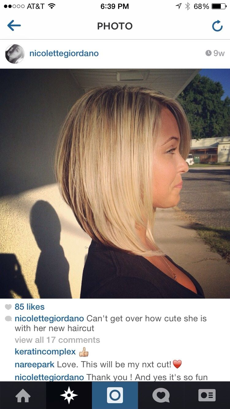 A line bob hair cut pinterest bobs a line and so cute