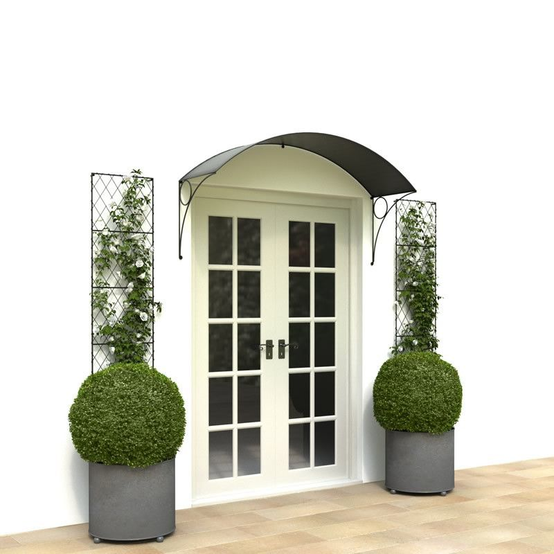 deep Georgian porch canopy for wider doors and French doors.  sc 1 st  Pinterest & semi circle awnings for patio - Google Search | Beautiful doors ...