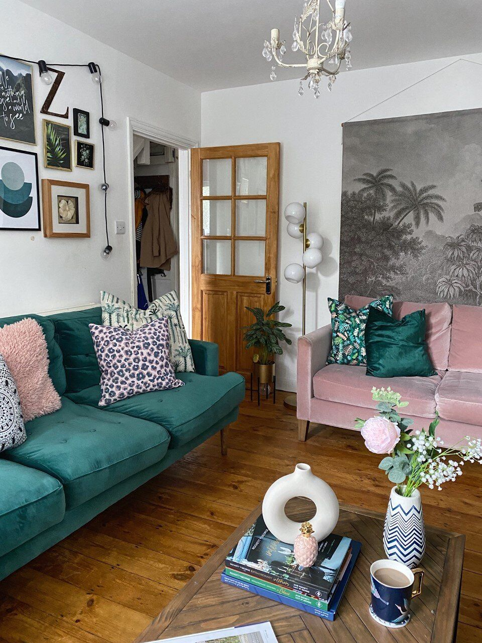 Colour Trends Pink And Green Should Always Be Seen Melanie Jade Design Gold Living Room Living Room Green Pink Living Room Jade living room ideas