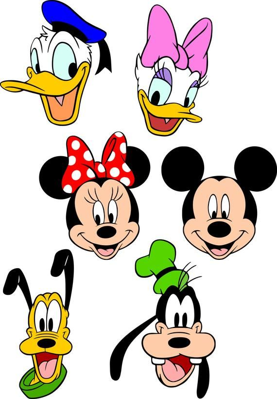 Mickey & Friends SVG file