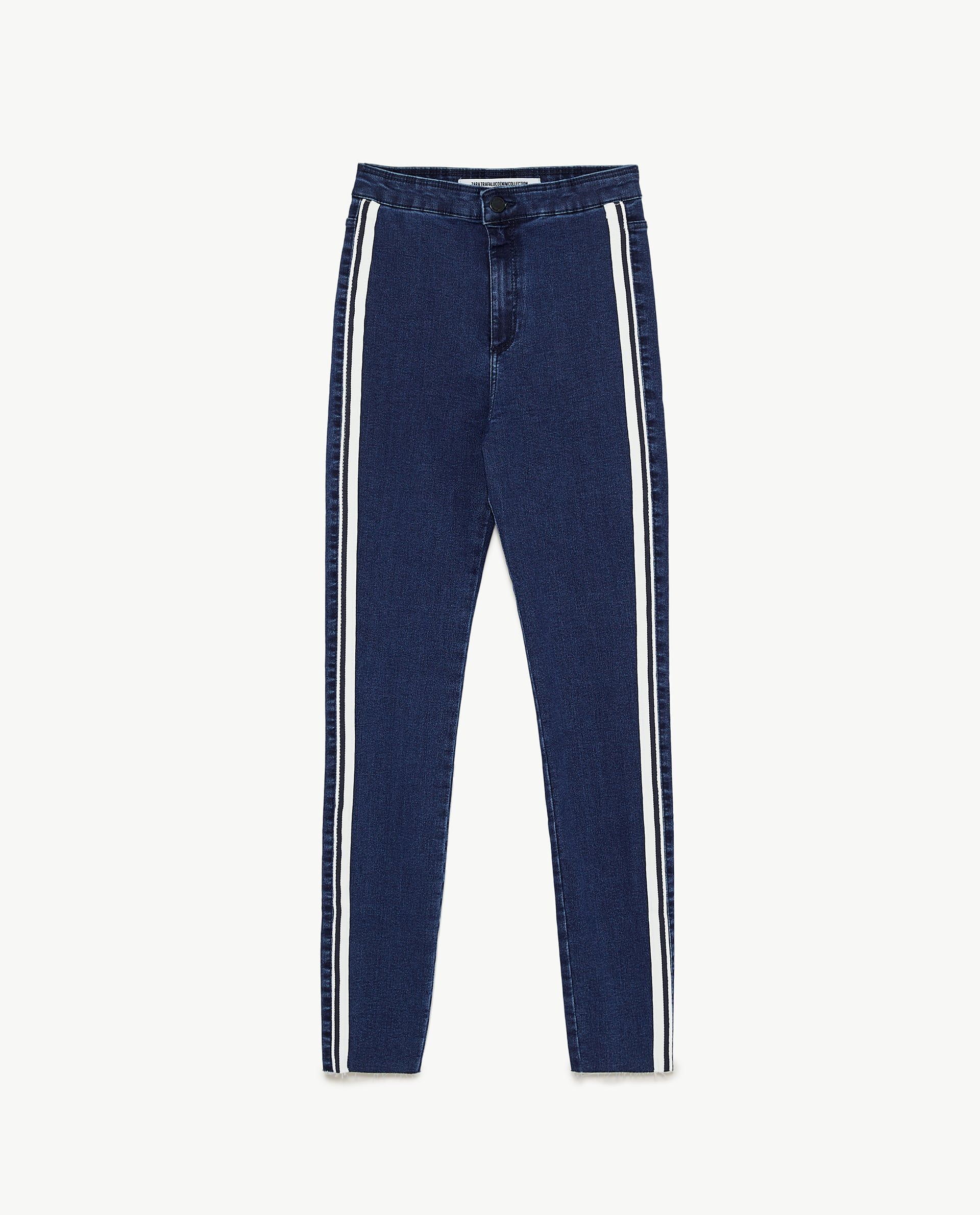 923ece93 Image 8 of HI-RISE 'SHAPER' JEGGINGS WITH SIDE STRIPE DETAIL from ...
