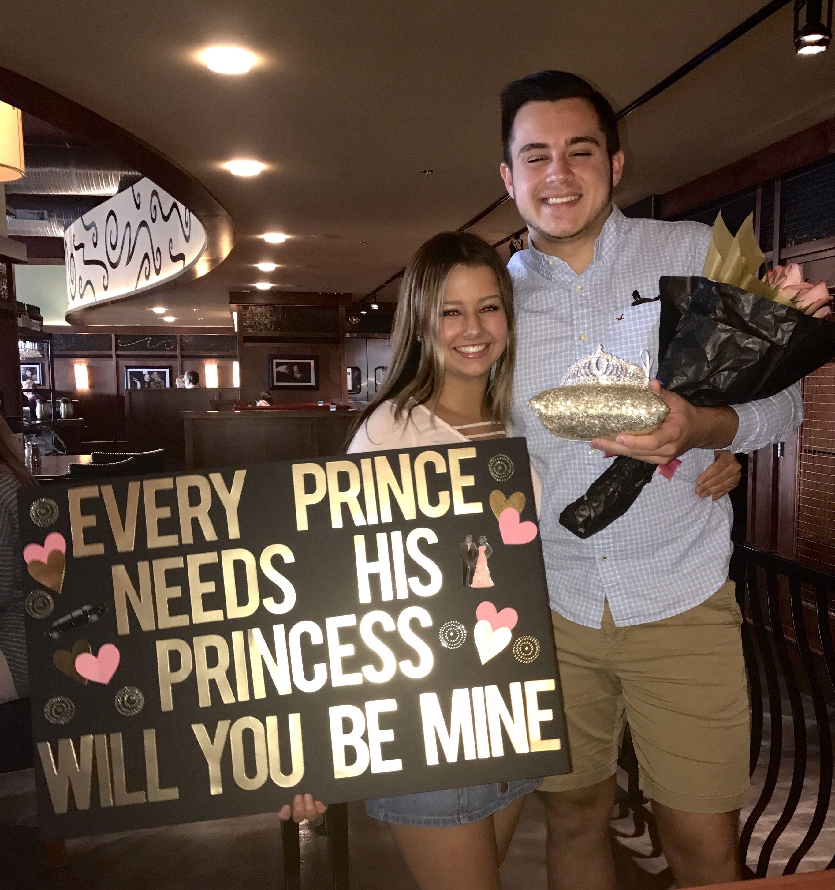 Princess Promposal. Cute Prom Promposal Ideas! Prom