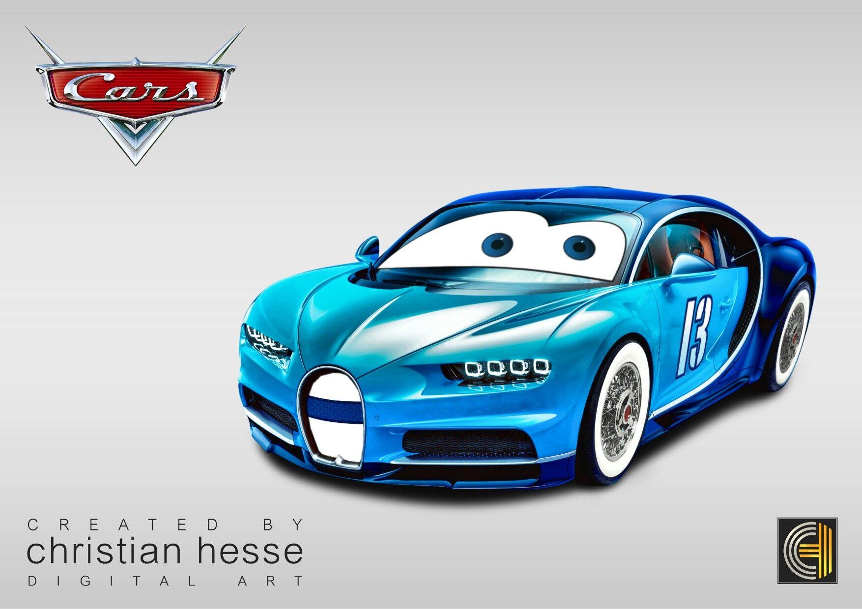 Disney Cars Bugatti Chiron | Poster Gestaltung | Pinterest