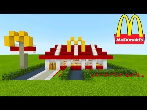 Minecraft Tutorial: How To Make A McDonalds (Restaurant) 2019 City Tutorial