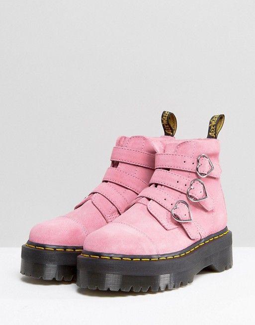 speical offer presenting sale uk Dr Martens x Lazy Oaf Boots in Pink   Kawaii/ Pastel Fashion ...