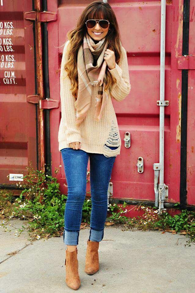 Y Botín Para Cómodo Ligero Salir Jeans Casual Suéter Café Z4gSwqgx