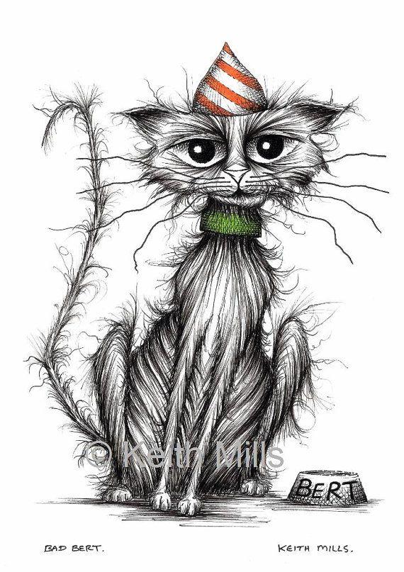 Bad Bert Print download Badly behaved naughty scruffy pet