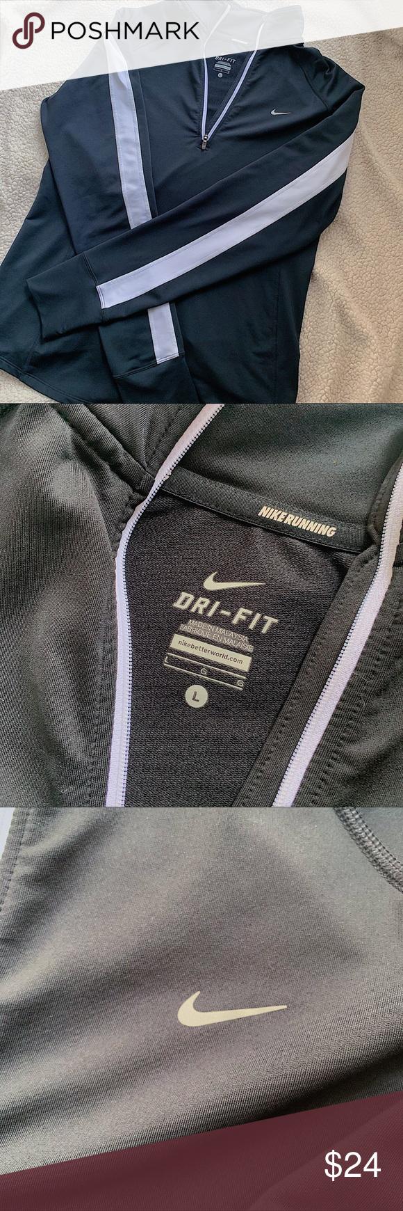 Nike Running Dri Fit Half Quarter Zip Up Pullover Nike Dri