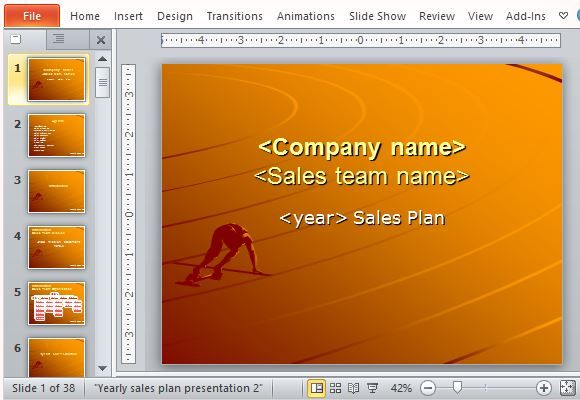Free Sales Plan Templates For Powerpoint  Microsoft Powerpoint