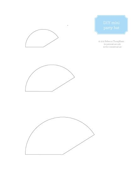 Diy Mini Party Hats  Free Printable  Faith Shaw Mini Hat Template