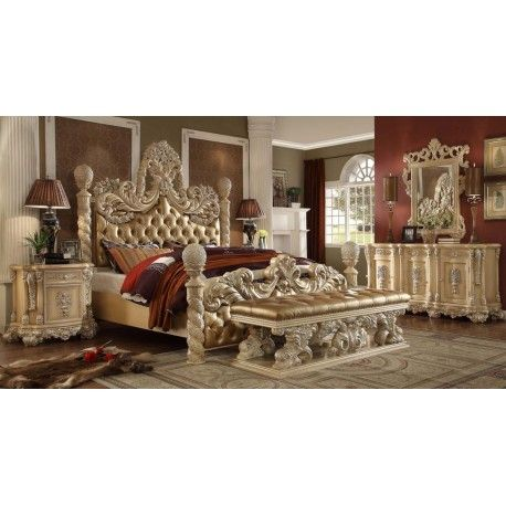 Hd 7266 Homey Design Bedroom Set Victorian European Classic