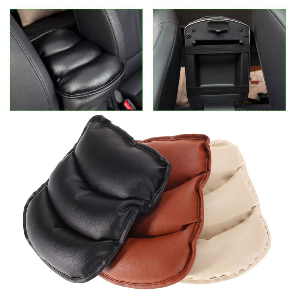 Universal Car Leather Central Armrest Console Box Pad Cover Cushion Support Box Arm Rest Seat Box Padding Protective C Protective Cases Arm Rest Center Console
