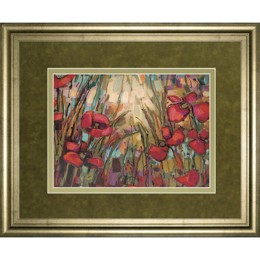 Classy art 34 in x 40 in opal by crystal heath framed