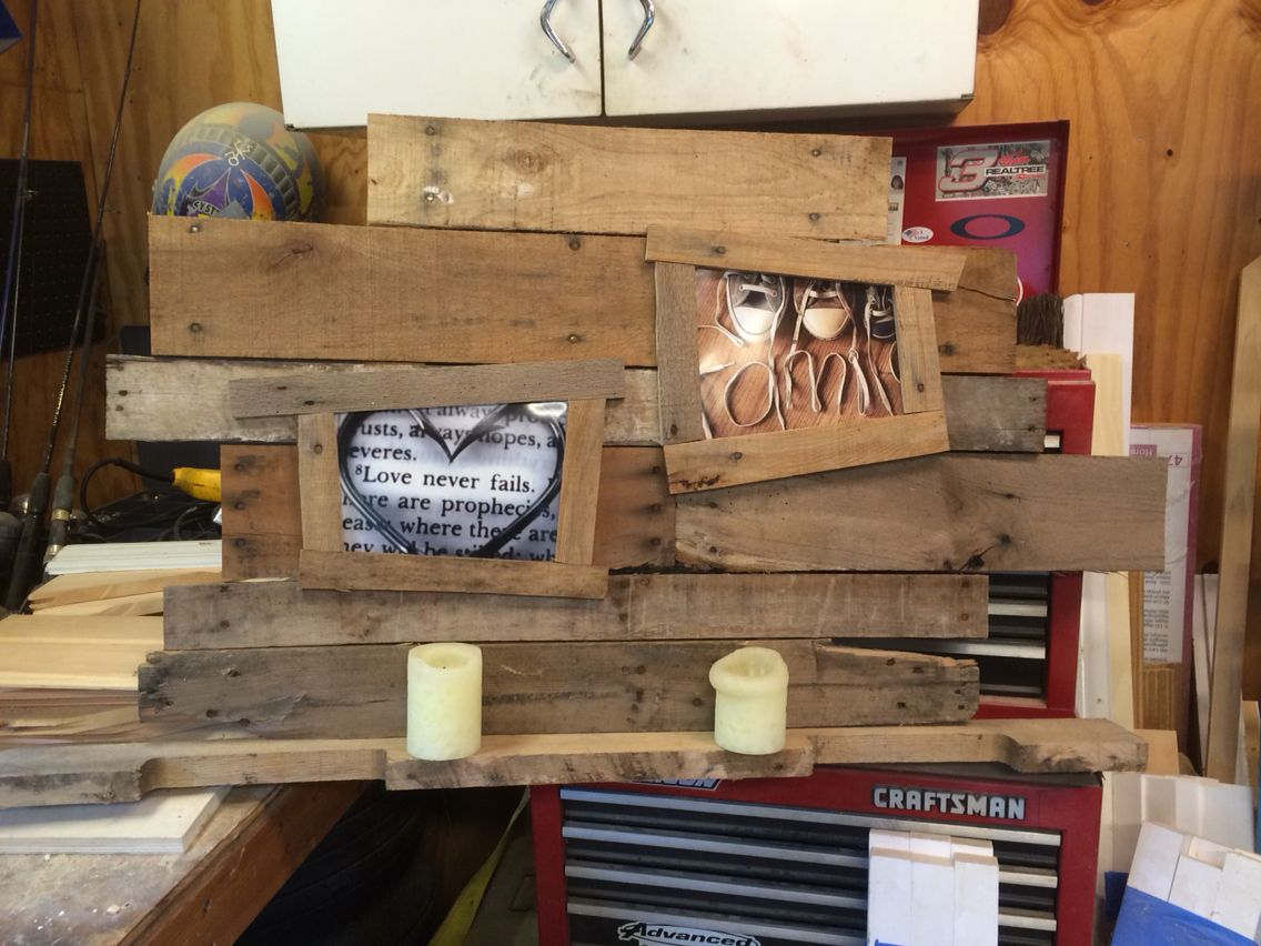 More pallet wall decor