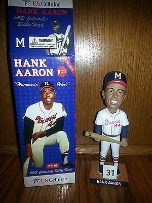 sale retailer 74a16 9669d 2013 Henry Hank Aaron Bobblehead Milwaukee Brewers Atlanta ...