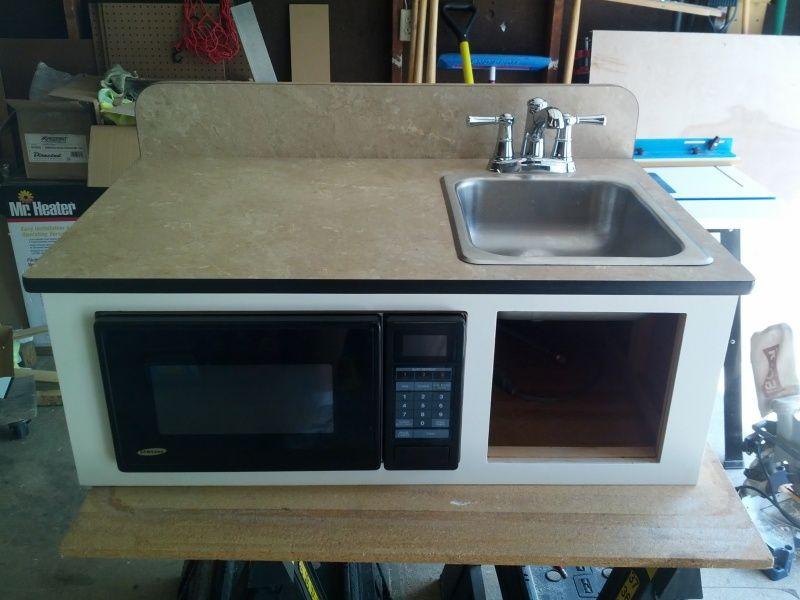 No more stove, new faucet, add nuke box. | Trailer Ideas ...