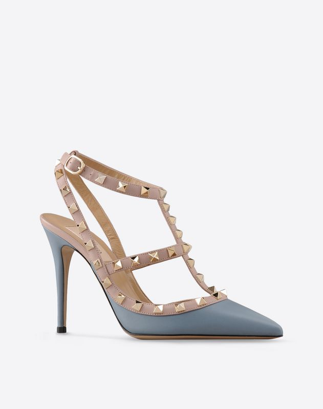 Discover the details of the Rockstud Ankle Strap for Women. Find out all  the information at Valentino Online Boutique and shop designer icons to  wear.