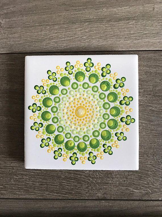 b6bac3233f6f1 Jewel Drop Design, Mandala Tile, Mandala Painting, Dot Mandala, Hand ...