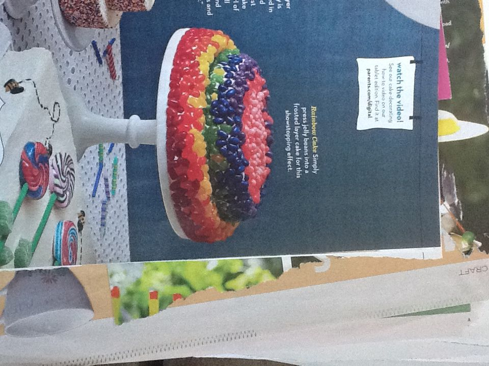 Rainbow jelly bean cake