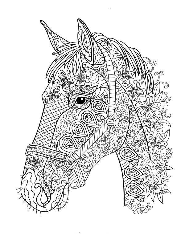 Stress Relief Horses Coloring Pages Horse Coloring Books Horse Coloring Pages Horse Coloring