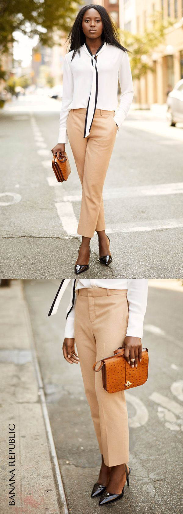 Your new go-to. The Avery pant has a trouser fit through the hip and thigh that creates an effortlessly chic tailored silhouette. Bonus: the crop shows off your new heels.