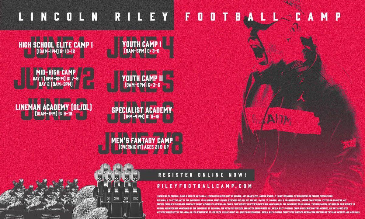 Lincoln Riley Fb Camp Rileyfbcamp Twitter Football Camp