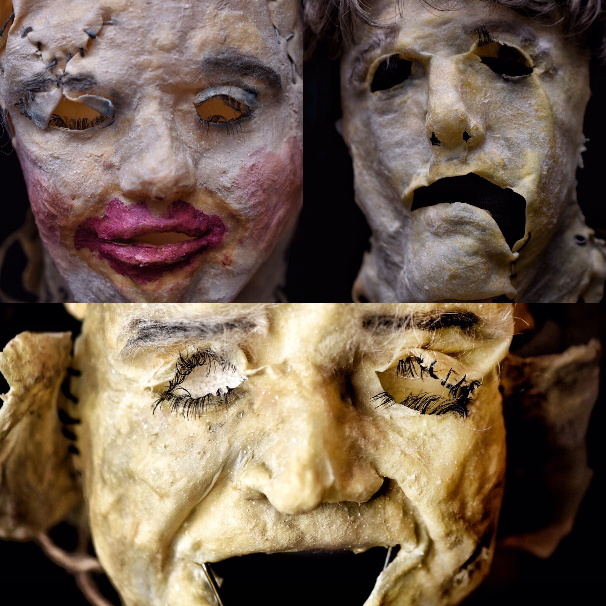 Leatherface masks from Jo Nobile at The Mask Gallery