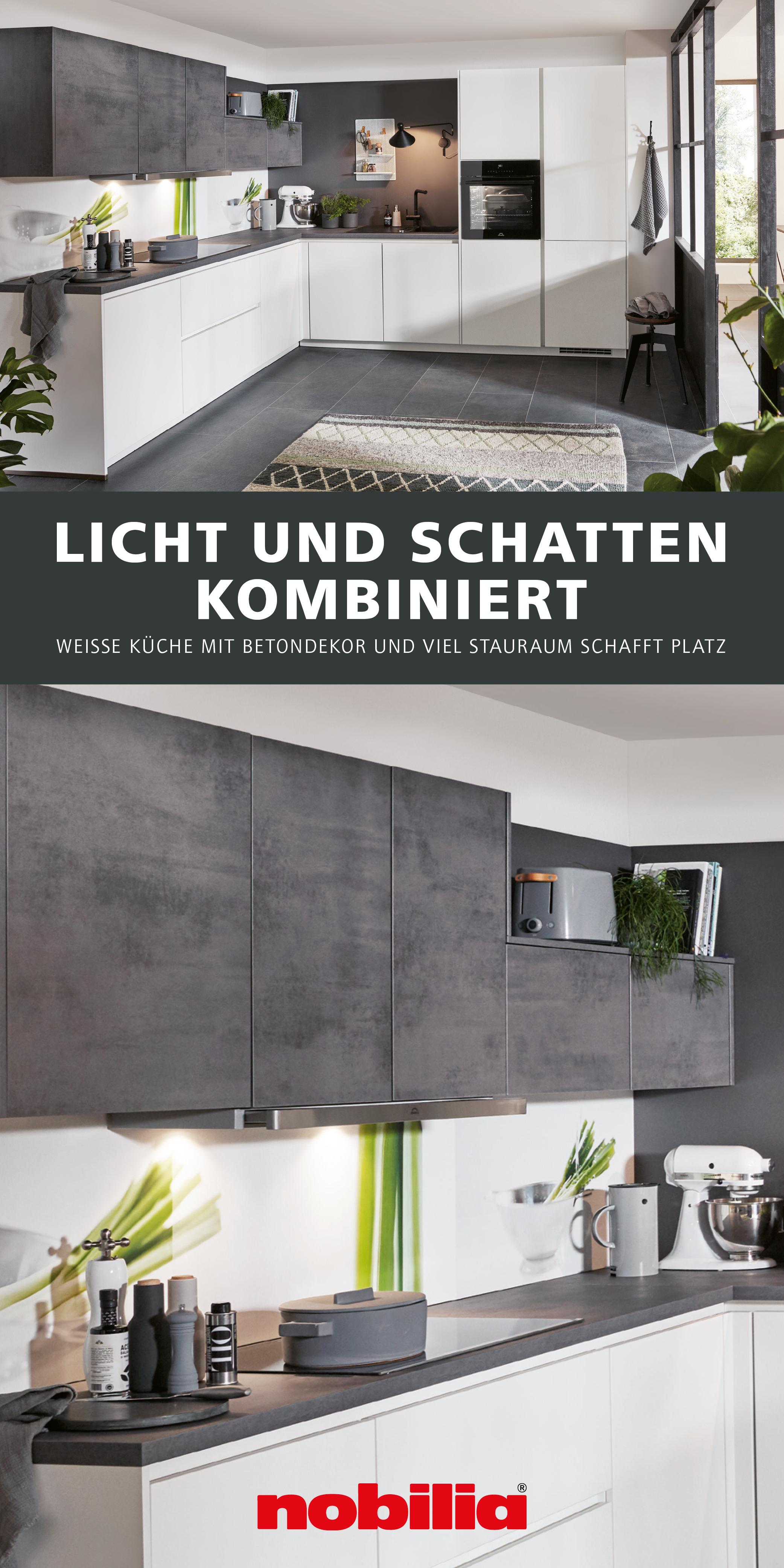 Helle Kuchenzeile Mit Betondekor In 2020 L Formige Kuche Kuche Weiss Matt Kuche