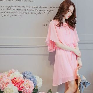 Buy Tokyo Fashion Embellished Frilled Chiffon Dress at YesStyle.com! Quality products at remarkable prices. FREE WORLDWIDE SHIPPING on orders over US$ 35.