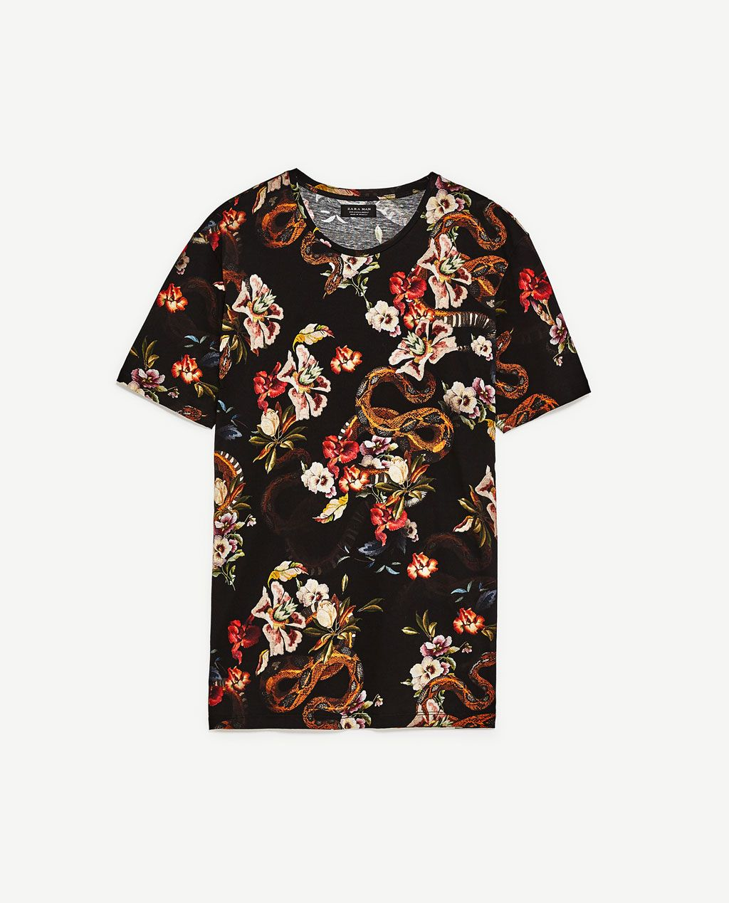 e05036dd4a30ac Image 8 of FLOWERS AND SNAKES T-SHIRT from Zara   BLEK KLAUS STYLE ...