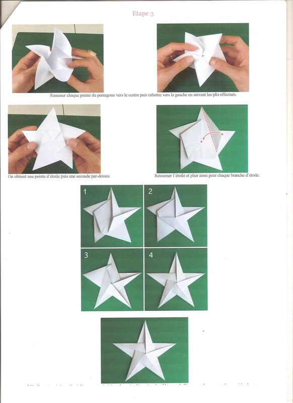 Toile origami 3 001 origami pinterest toile origami origami et toiles - Origami etoile de noel ...