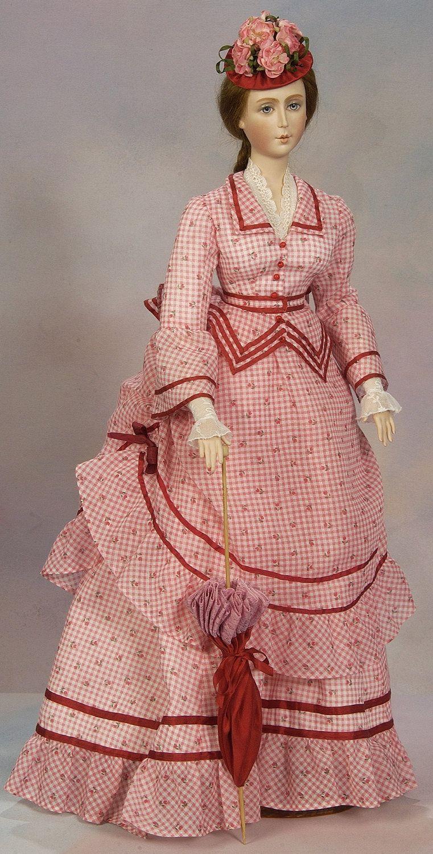 1870 Summer Victorian Visiting Dress By Digmongin Vestidos De Munecas Ropa Moda [ 1500 x 761 Pixel ]
