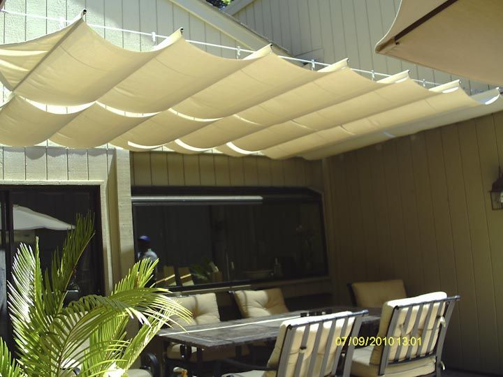 With a wide array of color and shade options Goodwin-Cole slide wire canopies are the perfect addition to your deck or patio space. & cable awnings and slide on wire canopy - Google Search | outdoor ...