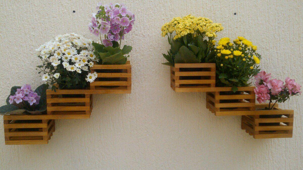 Floreira Vertical Par Violeteira Madeira Ma Ica C Cachepot R 64  -> Floreira Vertical