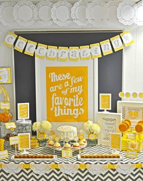 80th Birthday Party Ideas Favorite Things Party 90th Birthday