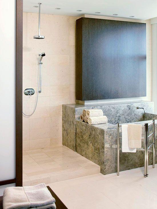 luxury master suite amenities walk through showeropen - Luxury Open Showers
