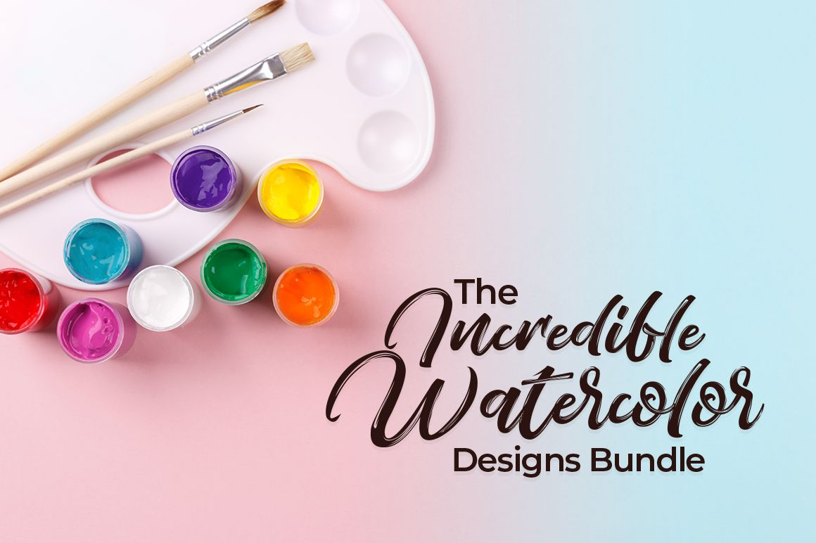 The Incredible Watercolor Designs Bundle 100 Design Sets With
