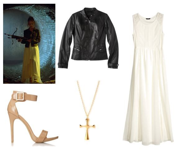 Long white dress costume ideas