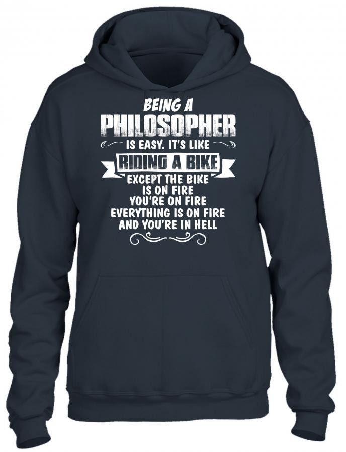 being a philosopher HOODIE