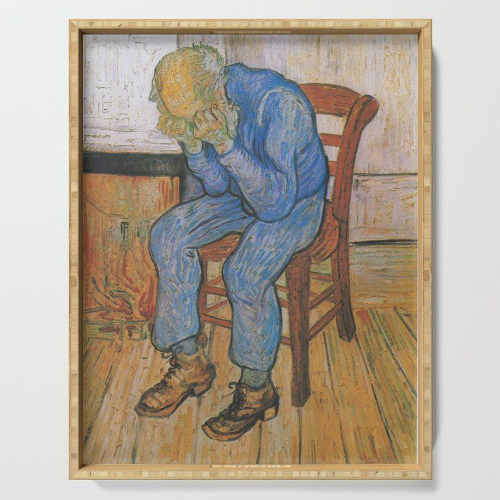 Vincent Van Gogh - Sorrowing Old Man (at Eternity's Gate) Serving Tray by Elegant Chaos Gallery - 18