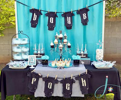 Rocker Baby Boy Shower Decorations | ... Ideas To Celebrate Teachers And  This Dr