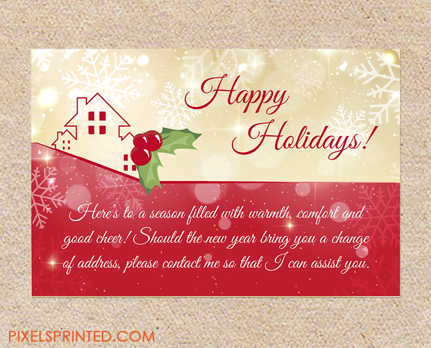 realtor holiday postcards realtor christmas postcards realor holiday greeting card real