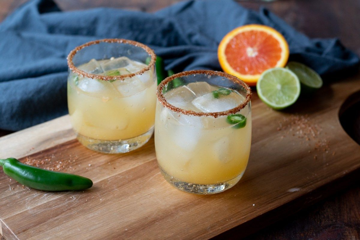 Chili Lime Margaritas | With Two Spoons